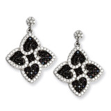 CZ Brilliant Embers Hearts Dangle Post Earrings Sterling Silver MPN: QMP717 UPC: 886774325026