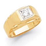 1-Stone Fancy Polished Men's Diamond Ring Mounting 14k Gold MPN: X9378 UPC: