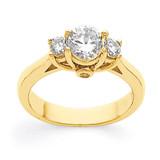 .35ct. Diamond Three Stone Ring Mounting 14k Gold MPN: Y3526 UPC: 883957454429