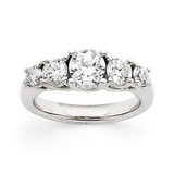 1.00ct. Diamond Engagement Ring Mounting 14K White Gold  MPN: Y3707 UPC: 883957454573