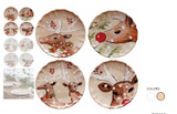 Casafina Deer Friends Dinner Plate Set of 4 MPN: DF601 UPC: 840289215692