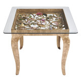 Jay Strongwater Josephine Floral Side Table, MPN: SHW3324-450