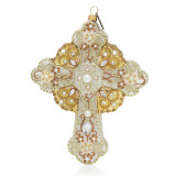 Jay Strongwater Cross Glass Ornament, MPN: SDH2253-232