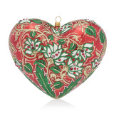 Jay Strongwater Floral Heart Glass Ornament, MPN: SDH2262-224
