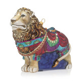 Jay Strongwater Carousel Lion Glass Ornament, MPN: SDH2275-250