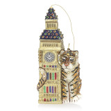 Jay Strongwater Big Ben with Tiger Glass Ornament, MPN: SDH2278-280