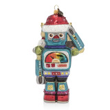 Jay Strongwater Vintage Toy Robot Glass Ornament, MPN: SDH2282-250