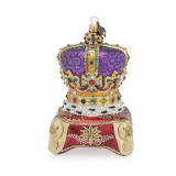 Jay Strongwater Queen's Crown Glass Ornament, MPN: SDH2284-250