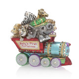 Jay Strongwater Baby's First Christmas Train Glass Ornament, MPN: SDH2287-250