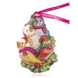 Jay Strongwater Four Calling Birds Glass Ornament, MPN: SDH2297-250