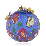 Jay Strongwater Butterfly Artisan 4 Inch Glass Ornament, MPN: SDH2304-289