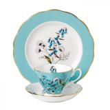 Royal Albert 100 Years 1950 3-Piece Set Teacup Saucer & Plate 8 Inch Festival MPN: 40017589 UPC: 701587269643