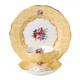 Royal Albert 100 Years 1990 3-Piece Set Teacup Saucer & Plate 8 Inch Bouquet MPN: 40017539 UPC: 701587269162