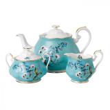 Royal Albert 100 Years 1950 3-Piece Set Teapot Sugar & Creamer Festival MPN: 40017602 UPC: 701587269773