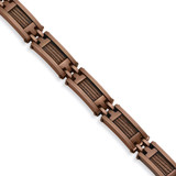 Chisel Chocolate IP-plated 9 Inch Bracelet - Stainless Steel SRB345