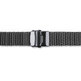 22mm PVD-Black Stainless Shark Mesh with Divers Watch Band , MPN: BA420-22, UPC:
