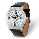 Disney Adult Size Black Strap Mickey Mouse with Moving Arms Watch , MPN: XWA5752, UPC: 843231082076