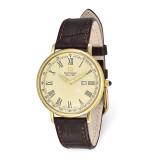 Steinhausen Altdorf IPG-plated Champagne Dial Brown Strap Watch , MPN: XWA5806, UPC: 849689026150