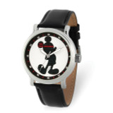 Disney Adult Mickey Mouse Silhouette Black Leather Band Watch , MPN: XWA5896, UPC: 842885106732