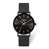 Colori Black IP-plated Mesh Strap Black Dial Watch , MPN: XWA5970, UPC: 871927442196
