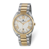 Charles Hubert Mens Two-Tone Stainless Steel Off-White Dial Watch , MPN: XWA6082, UPC: