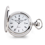 Charles Hubert Stainless Hunter Case with Shield White Dial Pocket Watch , MPN: XWA6110, UPC: