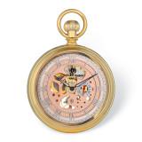 Charles Hubert Gold Finish Open Face Rose Dial Pocket Watch , MPN: XWA6121, UPC: