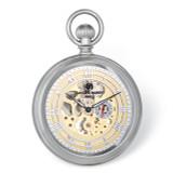 Charles Hubert Chrome Finish Open Face Gold Dial Pocket Watch , MPN: XWA6122, UPC: