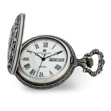 Charles Hubert Antique Chrome Finish Fisherman Pocket Watch , MPN: XWA6151, UPC: