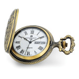 Charles Hubert Antique Gold Finish 2 Horses Pocket Watch , MPN: XWA6154, UPC: