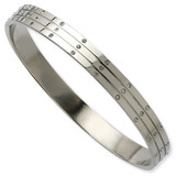 Chisel Polished with Synthetic Diamonds Bangle - Stainless Steel SRB588