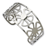 Chisel Flower Cuff Bangle - Stainless Steel SRB670