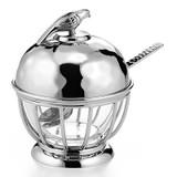 "Mary Jurek Robin Condiment Pot with Glass 5"" x 4"" MPN: HRN001, UPC: 817658012992"