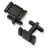 Chisel Black IP-plated Cufflinks - Stainless Steel SRC104