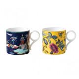 Wedgwood Wonderlust Mug Set of 2 (Blue Pagoda & Yellow Tonquin) MPN: 40035082, UPC: 701587413527