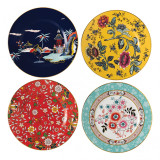 Wedgwood Wonderlust Plate 8 Inch Set of 4 (Blue Pagoda, Camellia, Crimson Jewel & Yellow Tonquin) MPN: 40031712, UPC: 701587380423