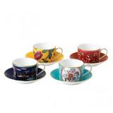 Wedgwood Wonderlust Teacup & saucer Set of 4 (Blue Pagoda, Camellia, Crimson Jewel & Yellow Tonquin) MPN: 40035085, UPC: 701587413558