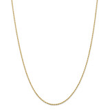 14k Yellow Gold 1.50mm Diamond-cut Rope with Lobster Clasp Chain 28 Inch, MPN: 012L-28