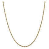 14k Yellow Gold 2.8mm Semi-Solid Rope Chain 22 Inch, MPN: BC134-22