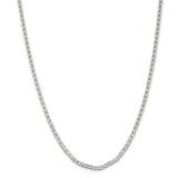 Sterling Silver 3mm Flat Anchor Chain 26 Inch, MPN: QAN080-26