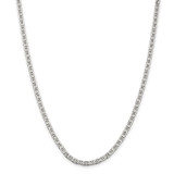 Sterling Silver 3.75mm Flat Anchor Chain 26 Inch, MPN: QAN100-26