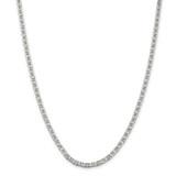 Sterling Silver 3.75mm Flat Anchor Chain 30 Inch, MPN: QAN100-30