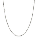 Sterling Silver 1.9mm Box Chain 28 Inch, MPN: QBX037-28