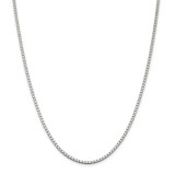 Sterling Silver 2.5mm Box Chain 28 Inch, MPN: QBX050-28