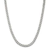 Sterling Silver Rhodium-plated 7mm Curb Chain 16 Inch, MPN: QCB180R-16