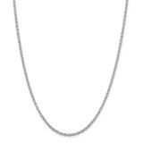 Sterling Silver 2.75mm Cable Chain 36 Inch, MPN: QCL080-36