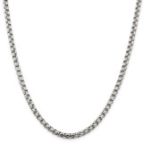 Sterling Silver 5.20mm Round Box Chain 30 Inch, MPN: QFC127-30