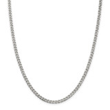 Sterling Silver Polished 3.5mm Curb Chain 22 Inch, MPN: QFC151-22