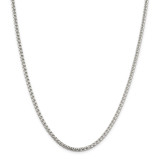 Sterling Silver 3.6mm Round Box Chain 30 Inch, MPN: QFC16-30