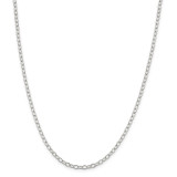 Sterling Silver 3.40mm Oval Cable Chain 30 Inch, MPN: QFC72-30